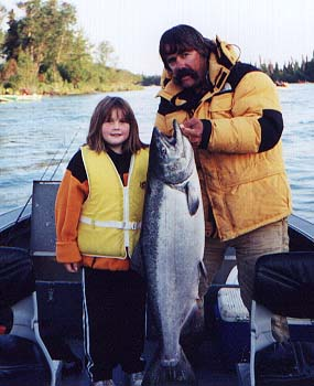 Young Angler and Big King Salmon!